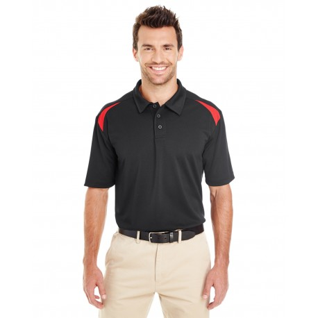 LS606 Dickies LS606 Men's 6 oz. Performance Team Polo BLACK/ENG RED