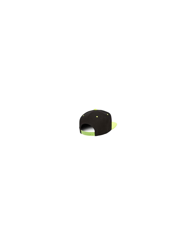 6089 Yupoong BLACK/NEON GRN