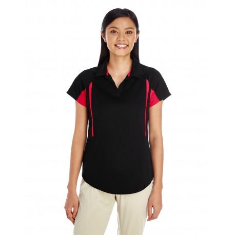 222730 Holloway 222730 Ladies' Avenger Short-Sleeve Polo BLACK/ORANGE