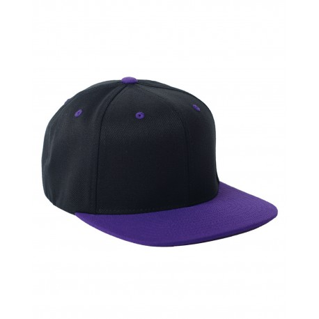 110FT Flexfit 110FT Adult Wool Blend Snapback Two-Tone Cap BLACK/PURPLE