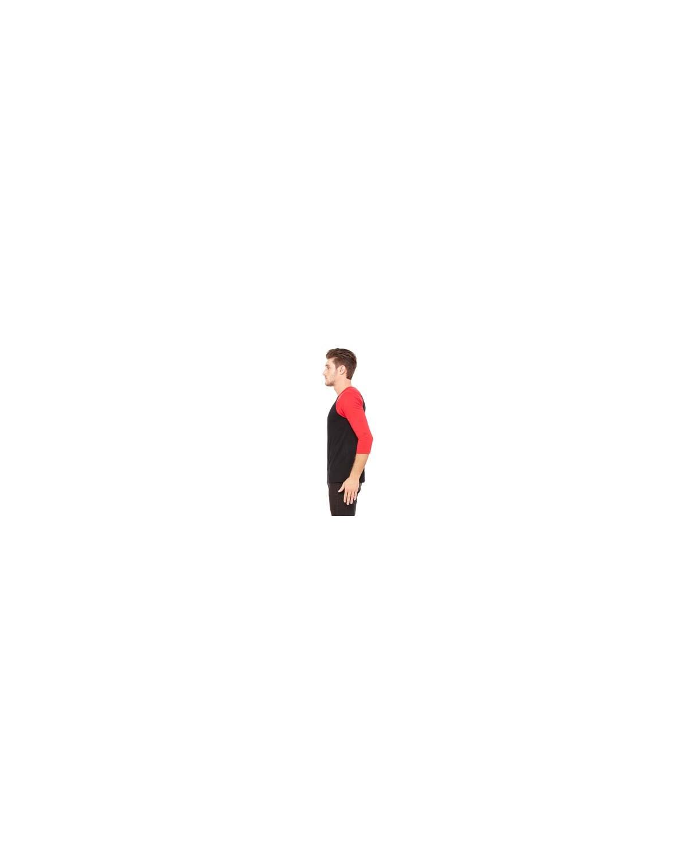 3200 Bella + Canvas BLACK/RED
