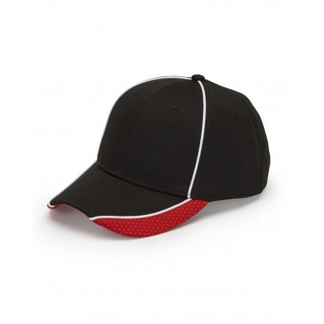 DP102 Adams DP102 First String Cap BLACK/RED/WHT