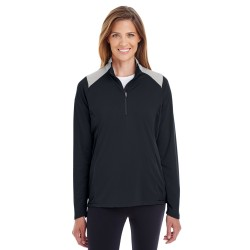 Team 365 TT27W Ladies' Command Colorblock Snag Protection Quarter-Zip