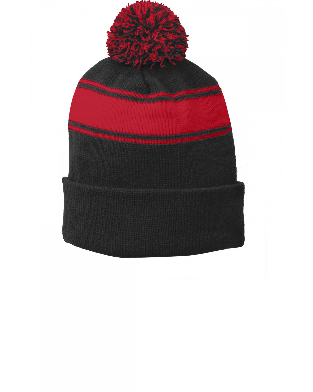 STC28 Sport-Tek Black/True Red
