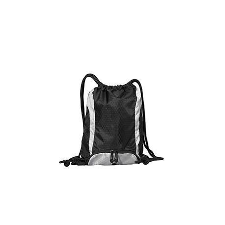 8890 Liberty Bags 8890 Santa Cruz Drawstring Backpack BLACK/WHITE