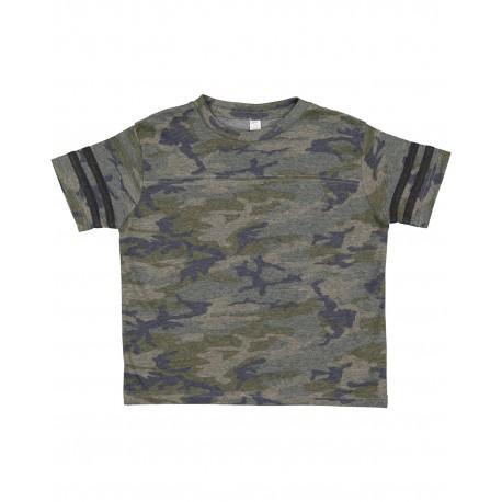3037 Rabbit Skins 3037 Toddler Football Fine Jersey T-Shirt VN CAMO/ VN SMK