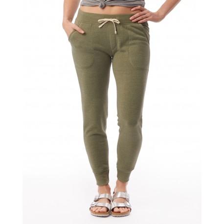 31082F Alternative 31082F Ladies' Jogger Eco-Fleece Pant ECO TR ARMY GRN