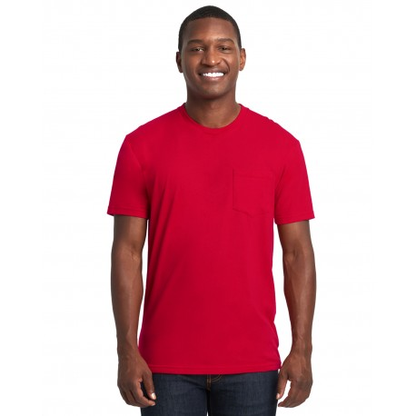 3605 Next Level 3605 Unisex Pocket Crew RED