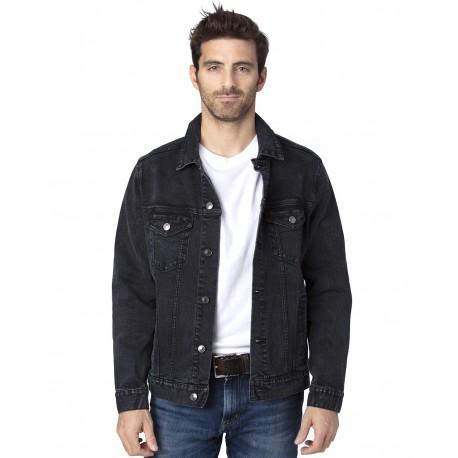 370J Threadfast Apparel 370J Unisex Denim Jacket BLACK DENIM