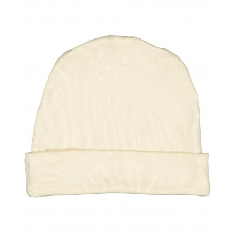 4451 Rabbit Skins 4451 Infant Baby Rib Cap NATURAL