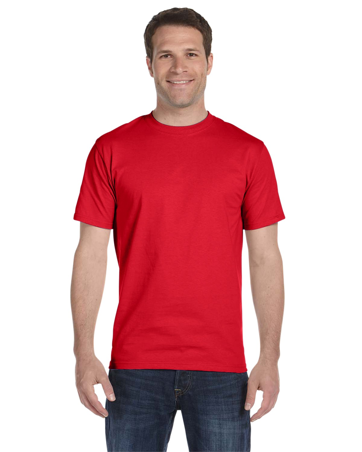 5180 Hanes Athletic Red