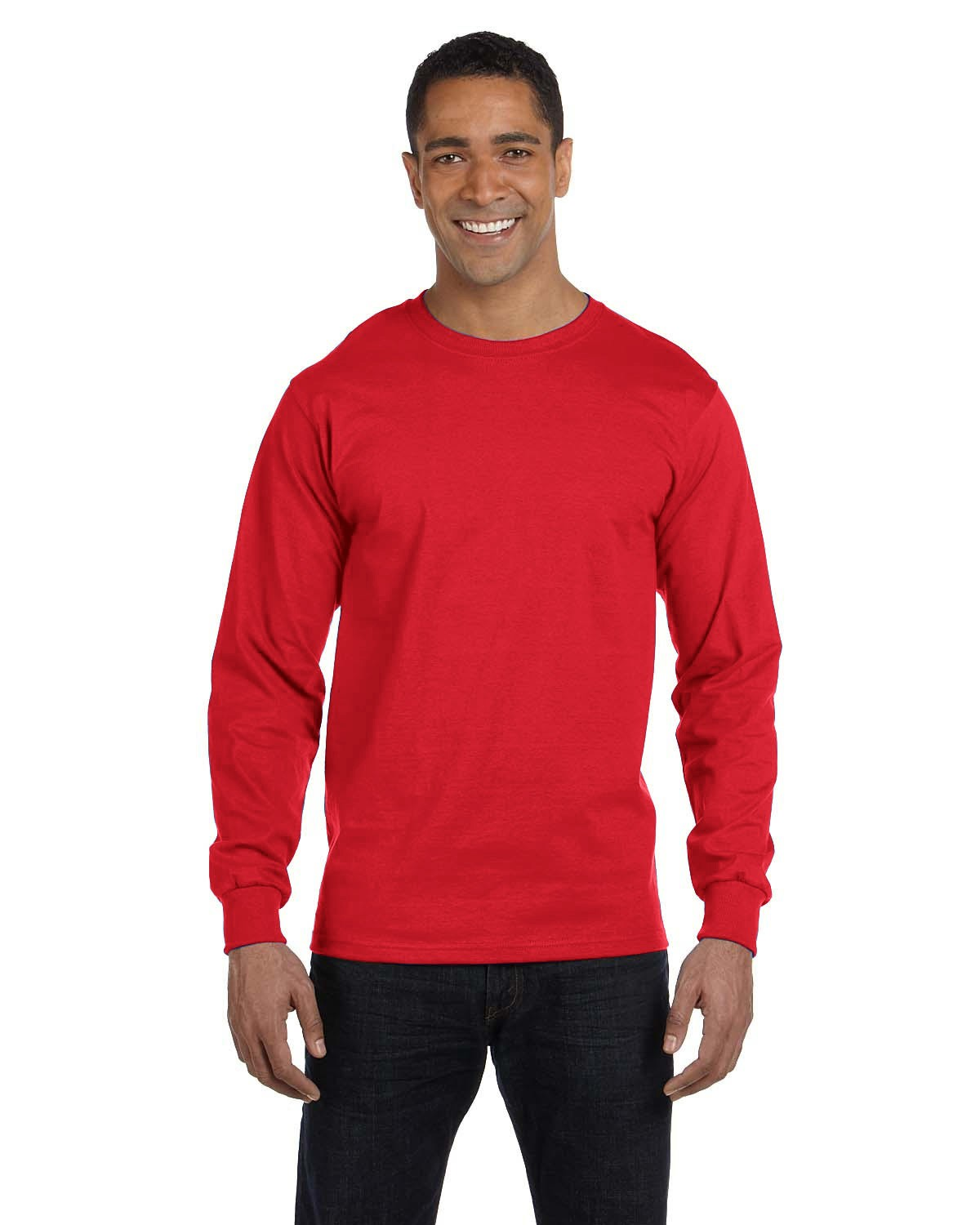 5286 Hanes Athletic Red
