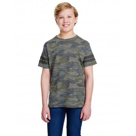 6137 LAT 6137 Youth Football Fine Jersey T-Shirt VN CAMO/ VN SMK