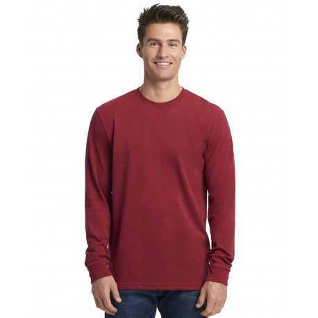 6411 Next Level 6411 Unisex Sueded Long-Sleeve Crew CARDINAL