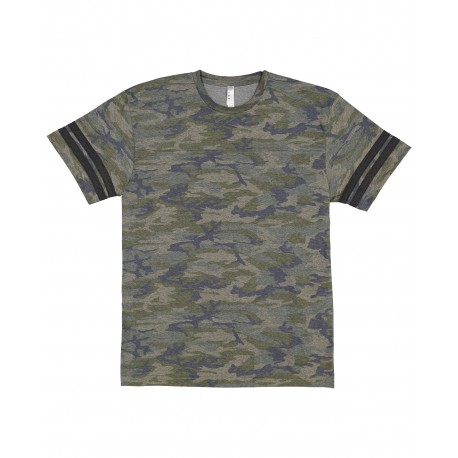 6937 LAT 6937 Men's Football Fine Jersey T-Shirt VN CAMO/ VN SMK