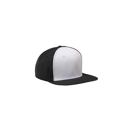 BA516 Big Accessories BA516 Flat Bill Cap BLACK/WHITE