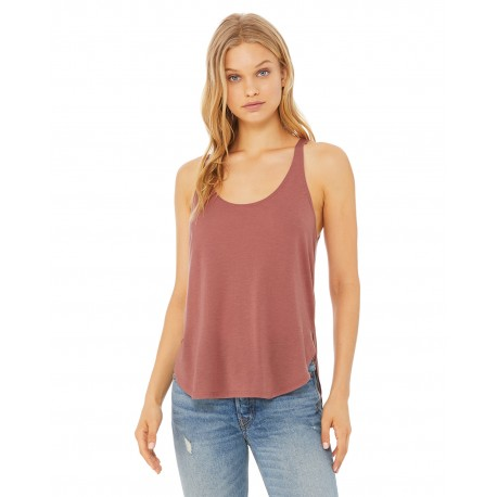 B8802 Bella + Canvas B8802 Ladies' Flowy Side Slit Tank MAUVE