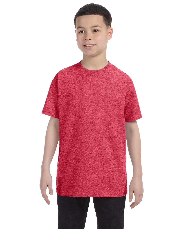 G500B Gildan HEATHER RED