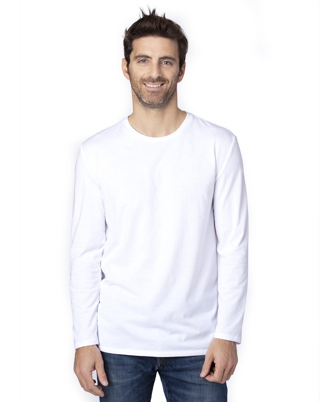 100LS Threadfast Apparel WHITE