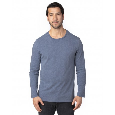 100LS Threadfast Apparel 100LS Unisex Ultimate Long-Sleeve T-Shirt NAVY HEATHER