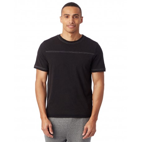 1054CG Alternative 1054CG Mens Heavy Wash Football T-Shirt BLACK