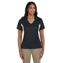 Harriton M355W Ladies' Side Blocked Micro-Pique Polo
