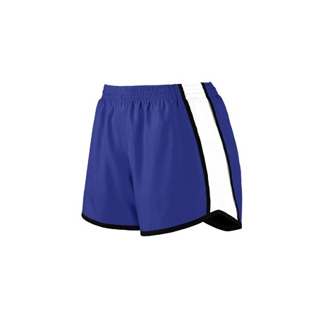1265 Augusta Sportswear 1265 Ladies Pulse Team Short PURPLE/ WHT/ BLK