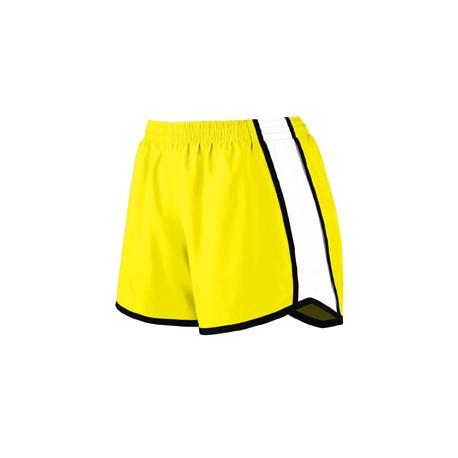 1265 Augusta Sportswear 1265 Ladies Pulse Team Short PW YLLW/ WH/ BLK