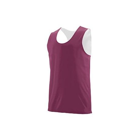 148 Augusta Sportswear 148 Adult Wicking Polyester Reversible Sleeveless Jersey MAROON/ WHITE