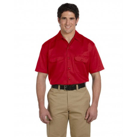 1574 Dickies 1574 Unisex Short-Sleeve Work Shirt RED