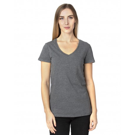 200RV Threadfast Apparel 200RV Ladies Ultimate V-Neck T-Shirt CHARCOAL HEATHER