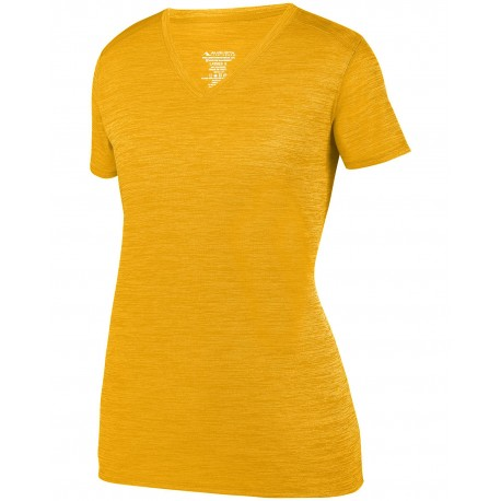 2902 Augusta Sportswear 2902 Ladies Shadow TonalHeather Short-Sleeve Training T-Shirt GOLD