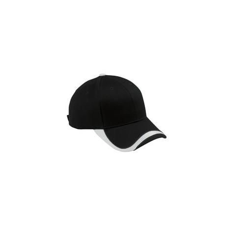 SWTB Big Accessories SWTB Sport Wave Baseball Cap BLACK/WHITE