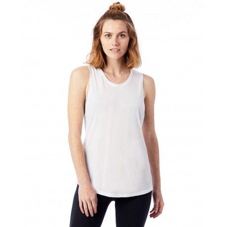 3095B2 Alternative 3095B2 Ladies Slinky-Jersey Muscle Tank WHITE