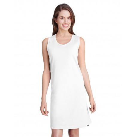 3523 LAT 3523 Ladies Racerback Tank Dress WHITE