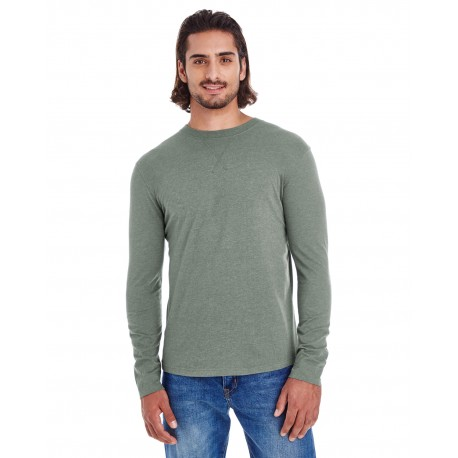 EC1588 Econscious EC1588 Men's Heather Sueded Long-Sleeve Jersey ASPARAGUS