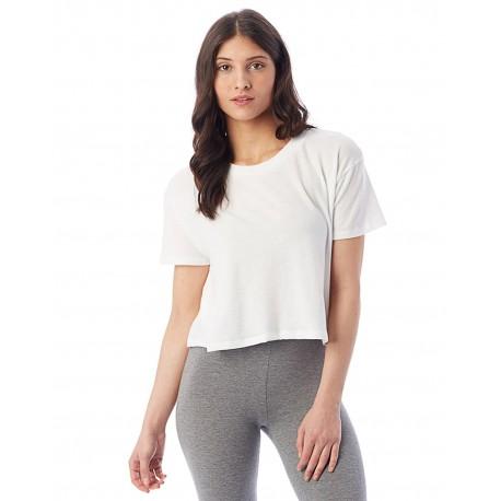 5114BP Alternative 5114BP Ladies Headliner Cropped T-Shirt WHITE
