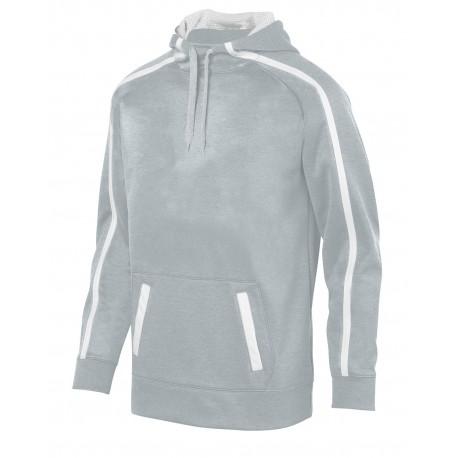 5554 Augusta Sportswear 5554 Adult Stoked Tonal Heather Hoodie SILVER/ WHITE