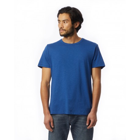 6094S1 Alternative 6094S1 Mens Slub Crew T-Shirt ROYAL BLUE