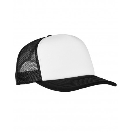 6320W Yupoong 6320W Adult Classics Curved Visor Foam Trucker Cap - White Front Panel BLACK/ WHT/ BLK