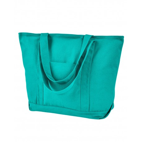8879 Liberty Bags 8879 Seaside Cotton Pigment-Dyed XL Canvas Boat Tote SEAFOAM GREEN