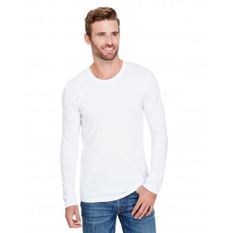 AN6740 Anvil AN6740 Adult Tri-Blend Long-Sleeve T-Shirt WHITE
