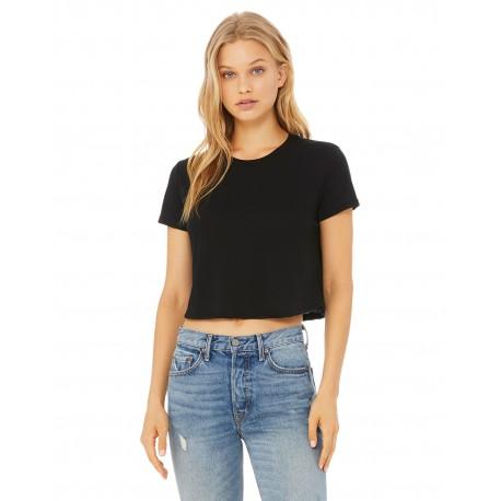 B8882 Bella + Canvas B8882 Ladies Flowy Cropped T-Shirt BLACK