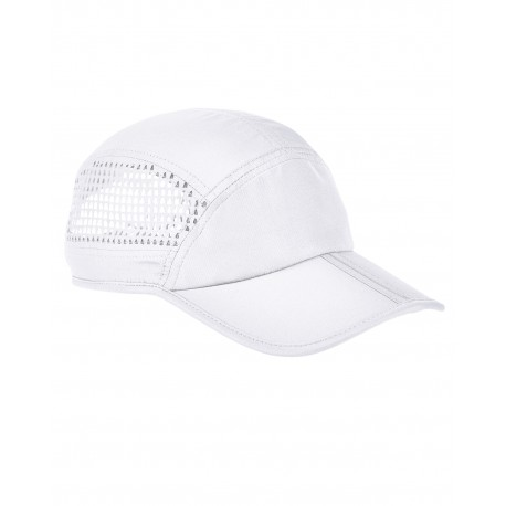 BA657 Big Accessories BA657 Foldable Bill Performance Cap WHITE