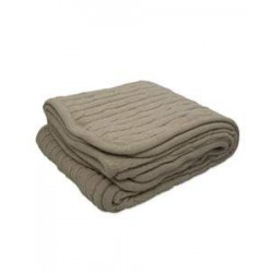 Pro Towels CABLE Cable Knit Lambswool Blanket