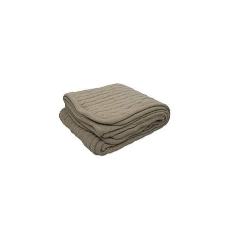 CABLE Pro Towels CABLE Cable Knit Lambswool Blanket MOCHA