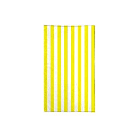 CB15 Pro Towels CB15 30X60 Midweight Standard Cabana Beach Towel WHITE/ YELLOW