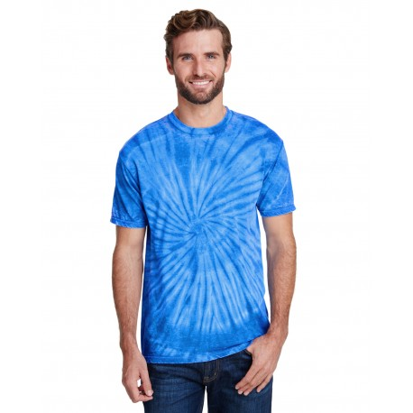 CD1090 Tie-Dye CD1090 Adult Burnout Festival T-Shirt ROYAL