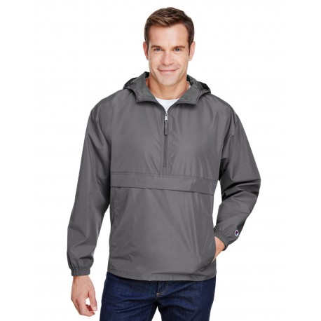 CO200 Champion CO200 Adult Packable Anorak 1/4 Zip Jacket GRAPHITE
