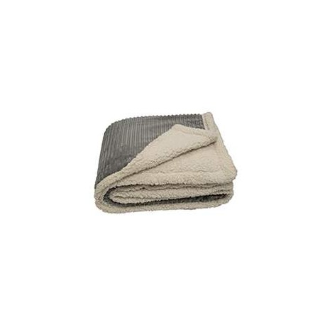CORD Pro Towels CORD 50x60 Corduroy Lambswool Throw Blanket GRAY